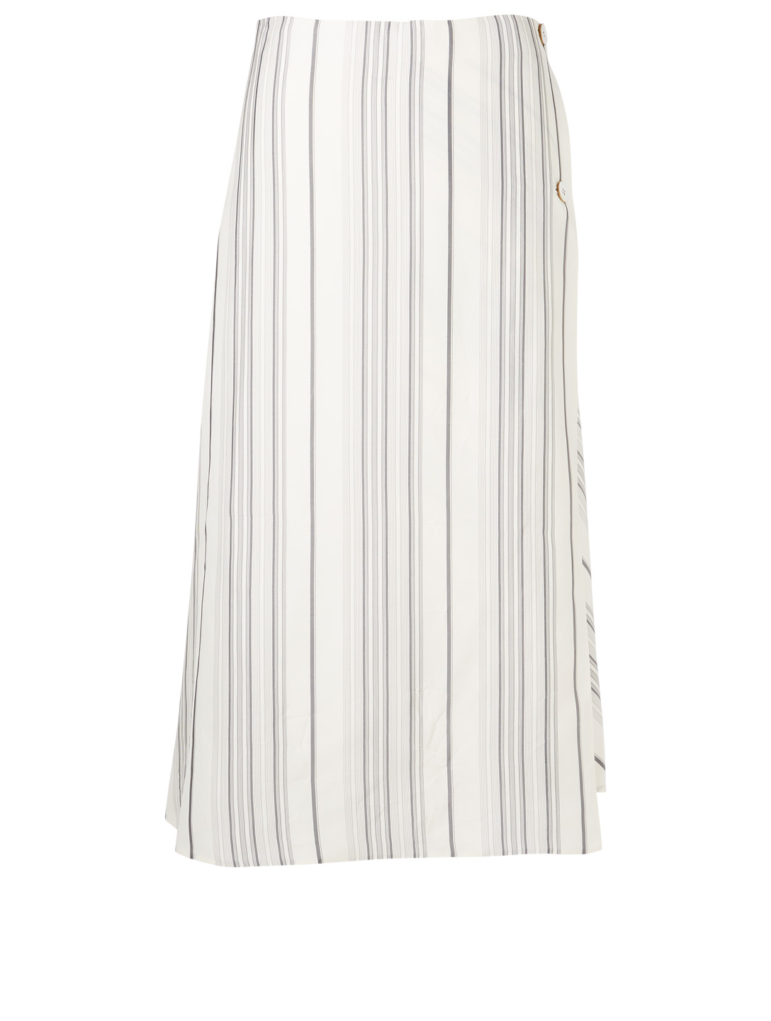 JIL SANDER Button-Up Strap Skirt In Stripe Women's White