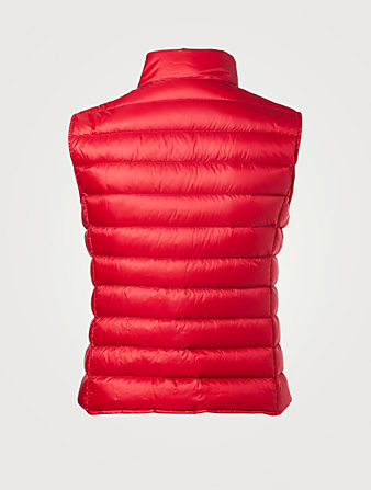 MONCLER Liane Down Puffer Vest Womens Red