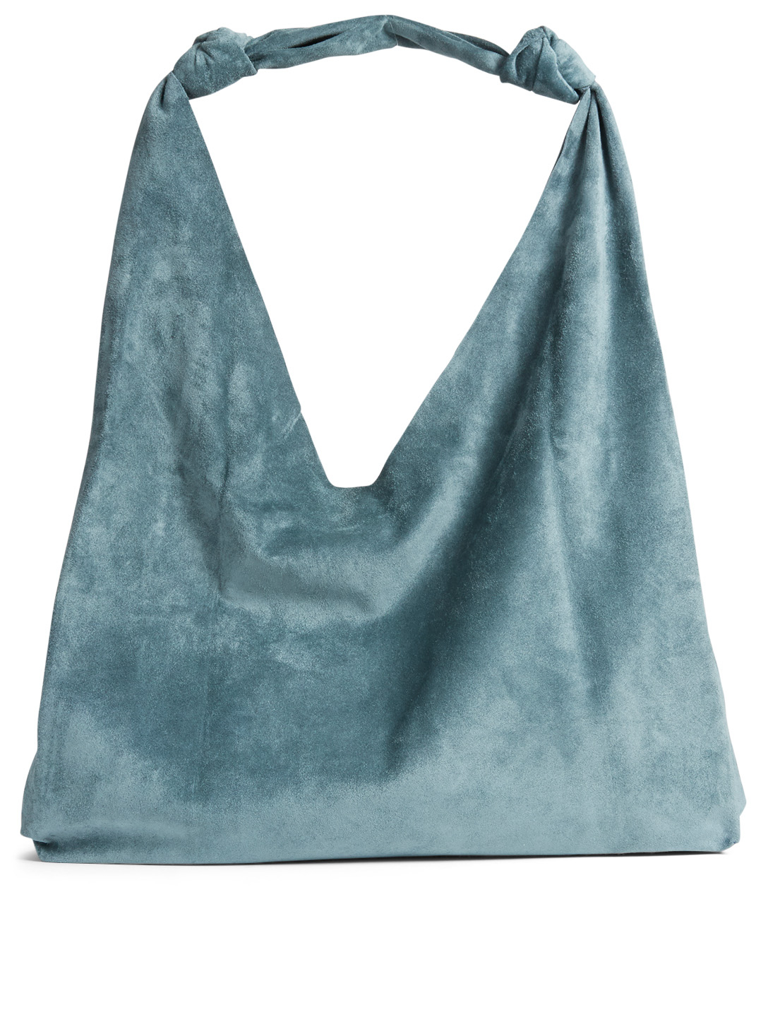 9261f015dd7c THE ROW Double Knot Suede Bindle Bag