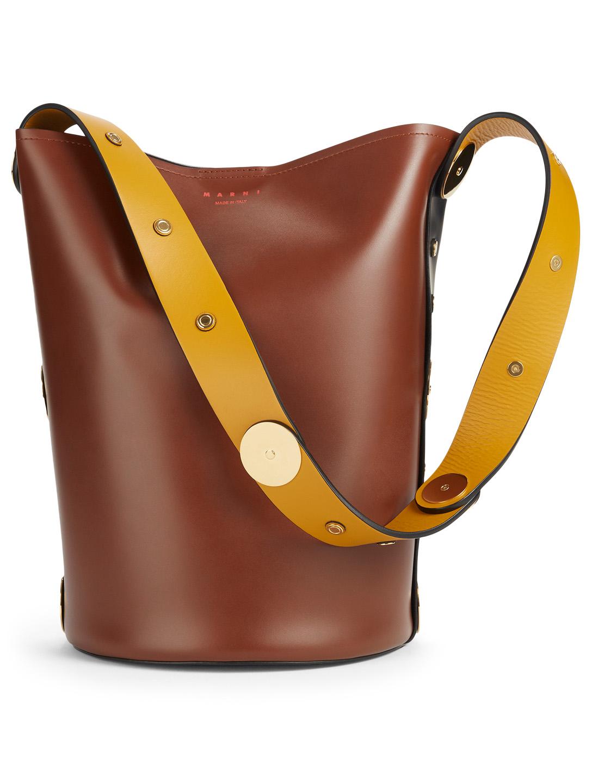 6f511da03e MARNI Punch Colourblock Leather Bucket Bag Women's Brown ...