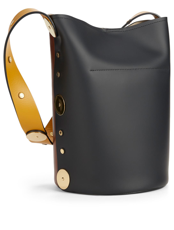 2dc4548fd8 ... MARNI Punch Colourblock Leather Bucket Bag Women's Brown ...