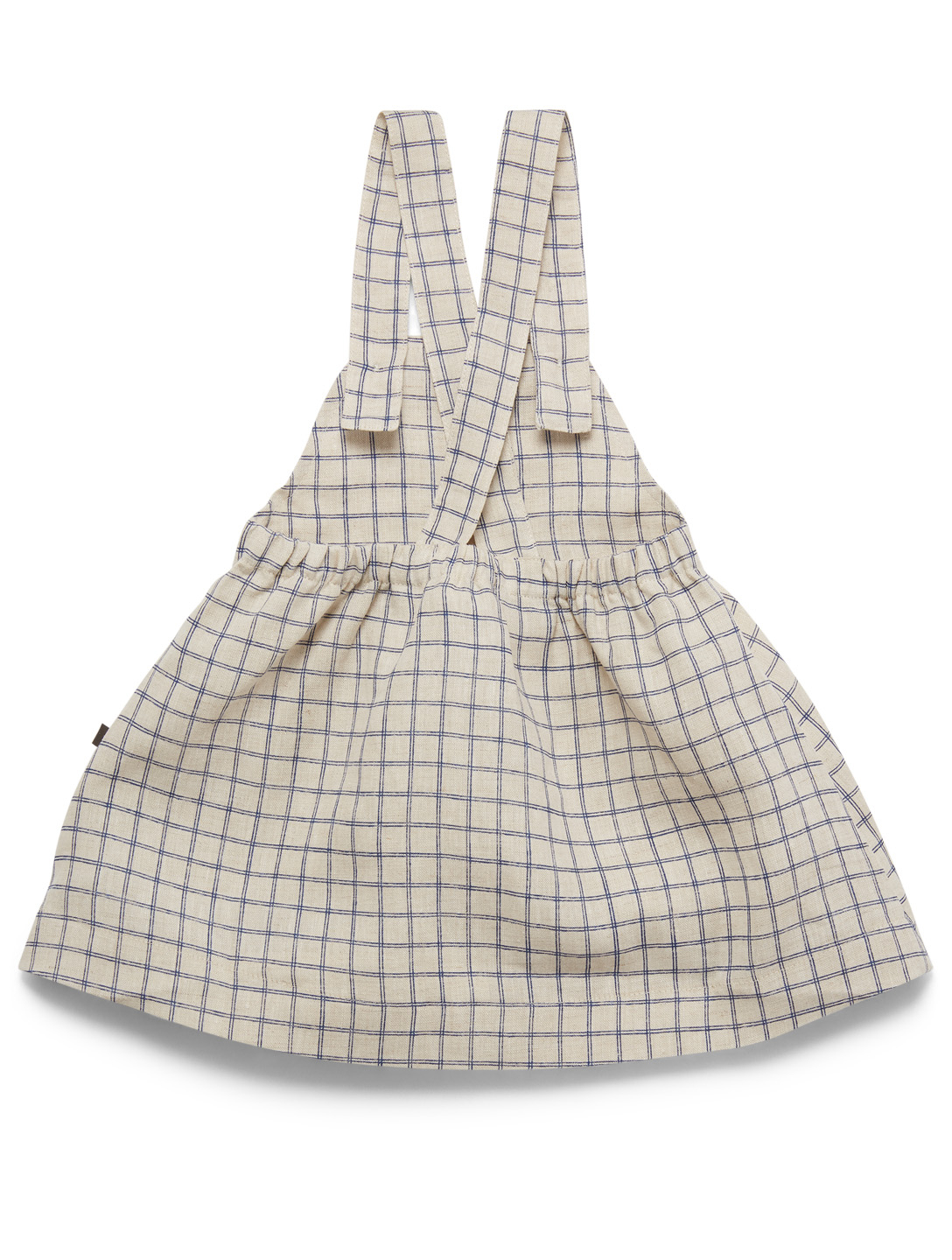 OEUF Linen Overall Dress In Check H Project Neutral
