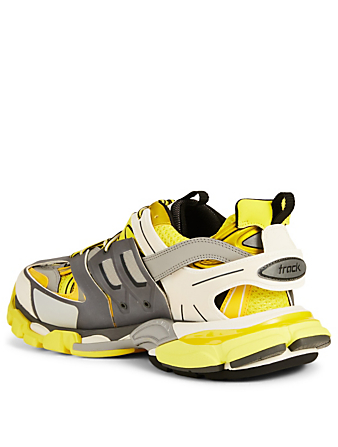 BALENCIAGA Track Nylon And Mesh Sneakers Men's Yellow
