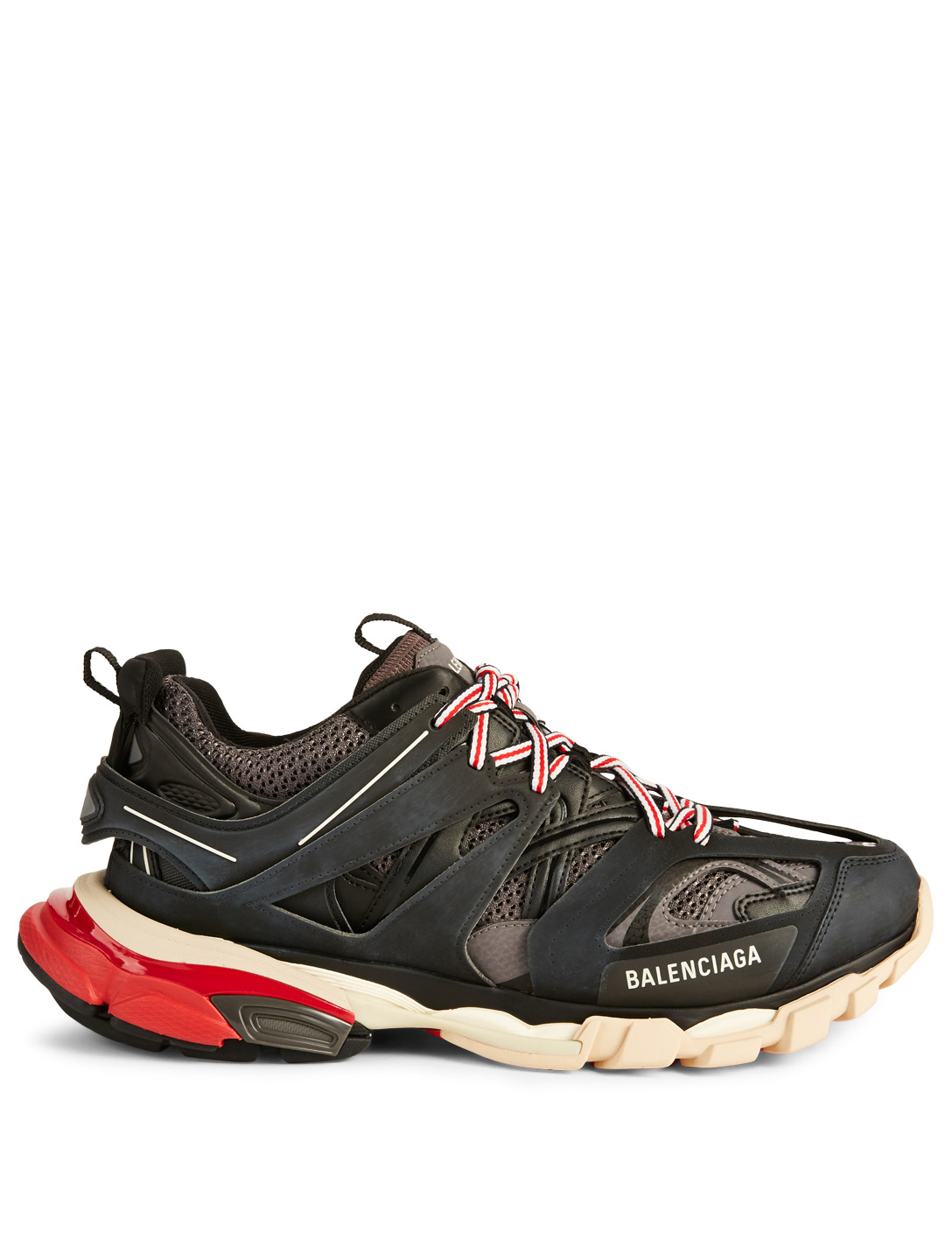 BALENCIAGA Track Nylon And Mesh Sneakers Men's Black