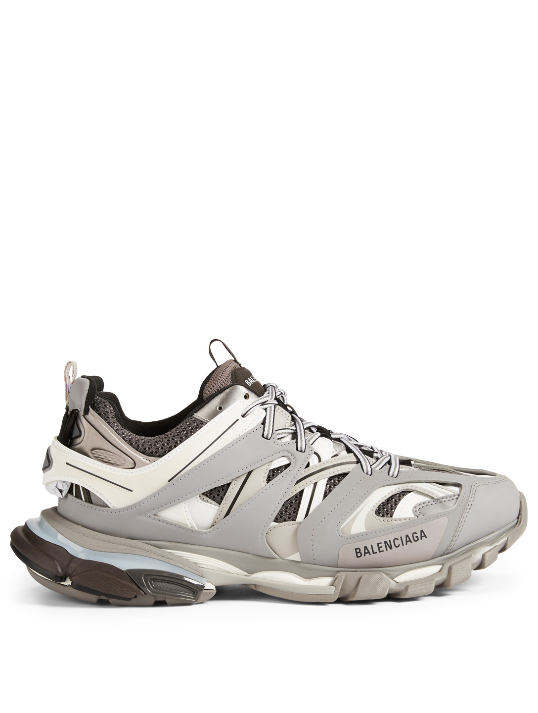 BALENCIAGA Track Nylon And Mesh Sneakers Men's Grey