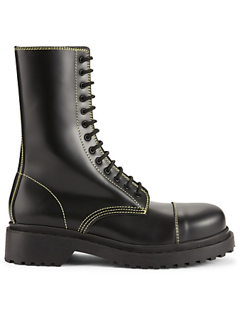 05b40c34d71 GUCCI. Ace Leather Sneakers With Web.  685 · BALENCIAGA. Leather Combat  Boots