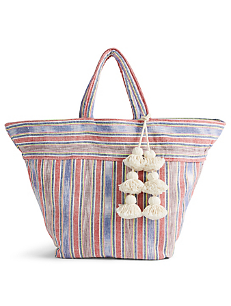 JADE TRIBE Small Samui Tote Bag With Tassel H Project Red
