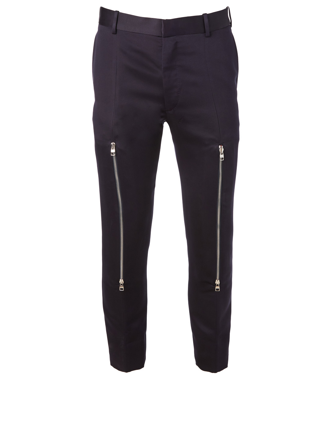 ALEXANDER MCQUEEN Cropped Pants With Zip Knees Men's Blue