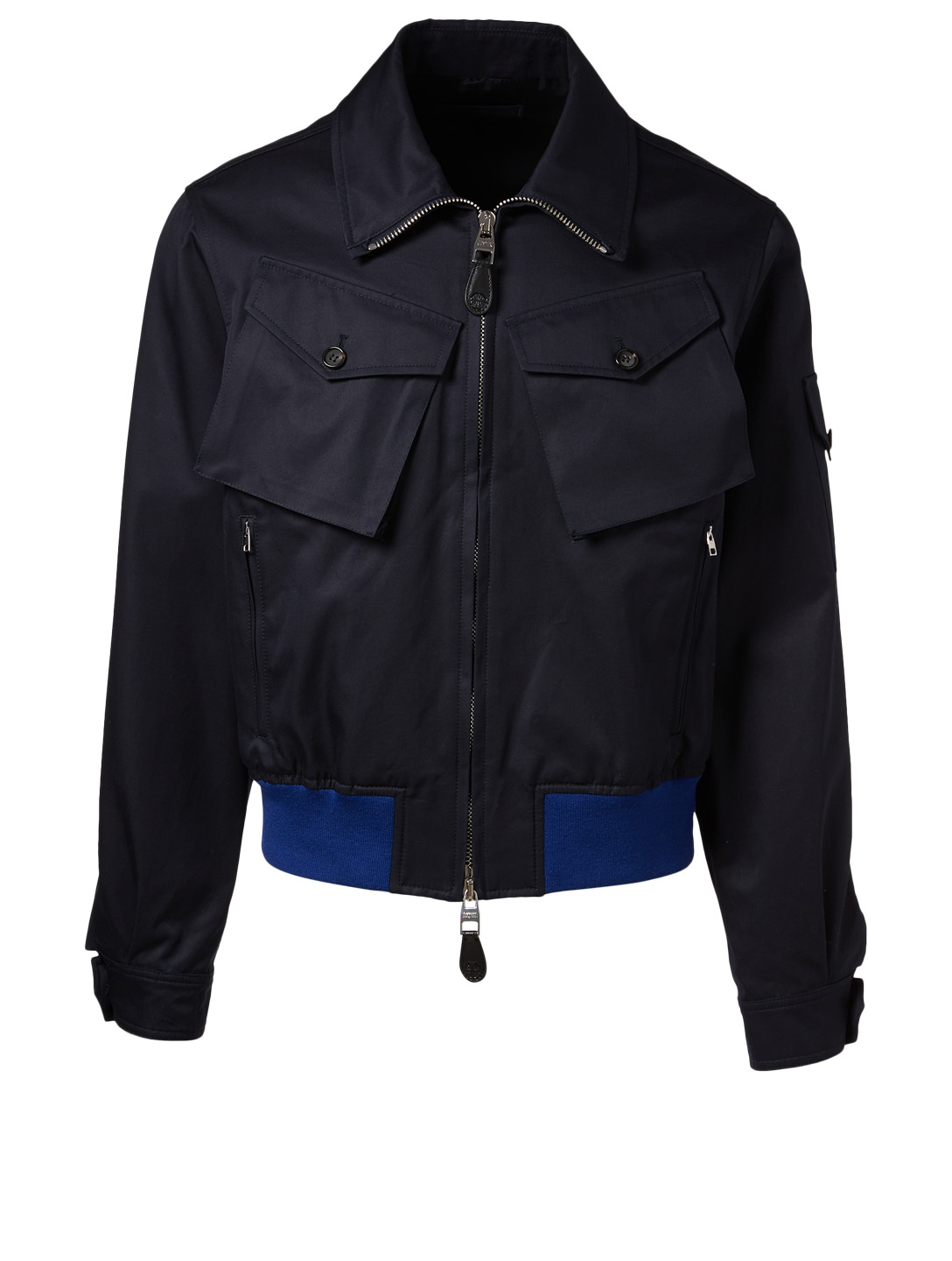ALEXANDER MCQUEEN Double-Pocket Bomber Jacket Men's Blue
