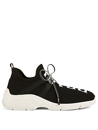 PRADA Technical Knit Logo Sneakers Designers Black