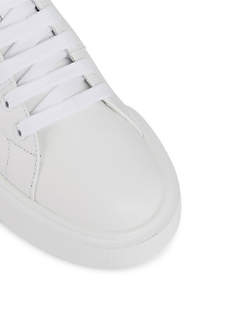 PRADA Leather Platform Sneakers Women's White
