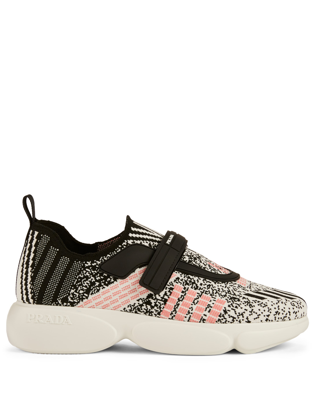 PRADA Cloudbust Geometric Knit Sneakers Women's White