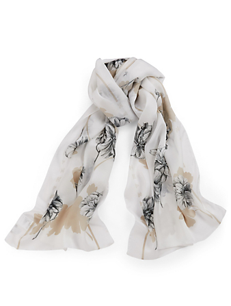 MAX MARA Rasetto Silk Scarf Womens Neutral