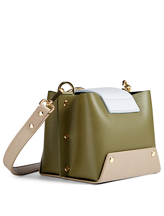 YUZEFI Lola Colourblock Leather Belt Bag Womens Green