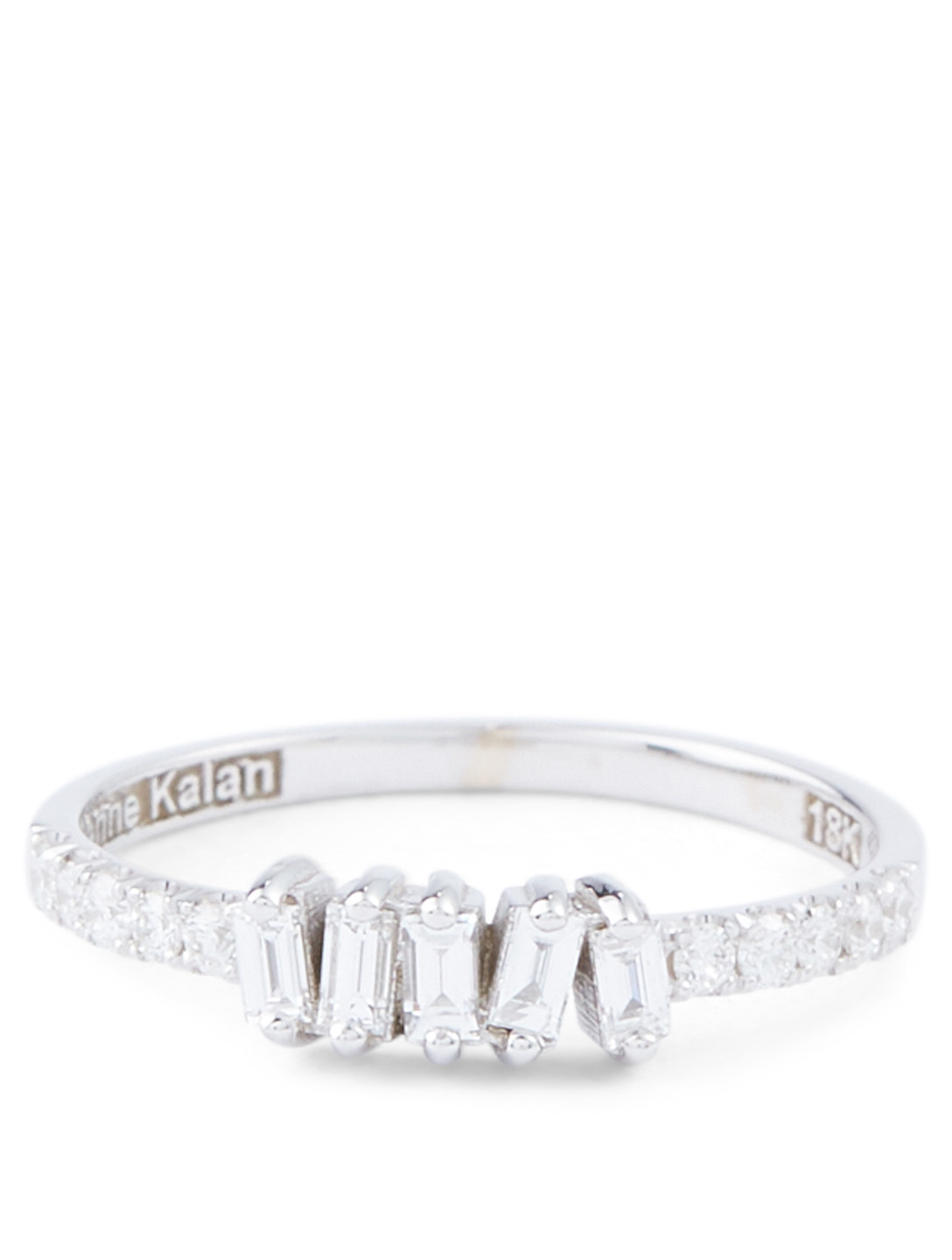 SUZANNE KALAN Fireworks 18K White Gold Ring With Diamonds Women's Silver