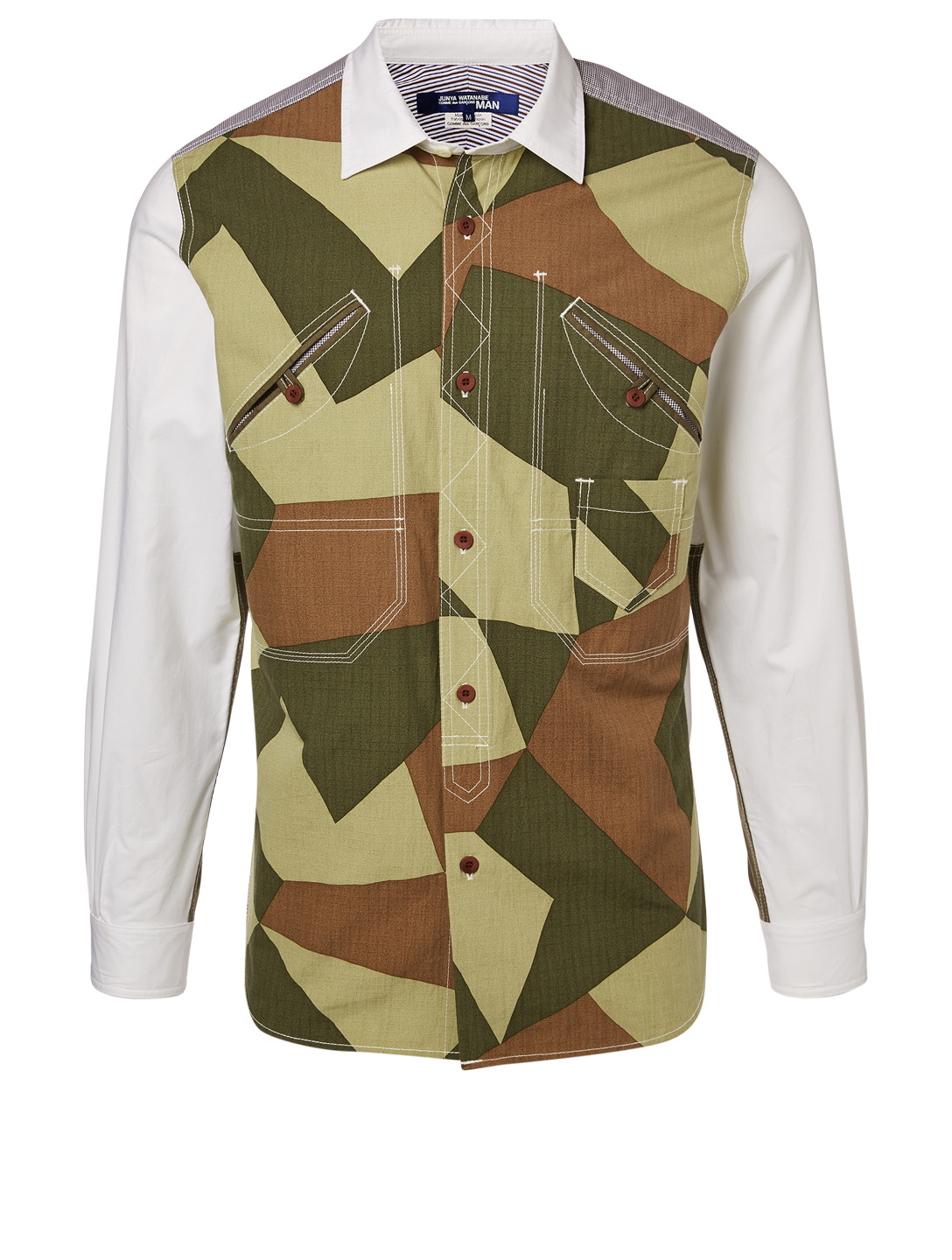 JUNYA WATANABE Panelled Shirt With Camo Print Men's Multi