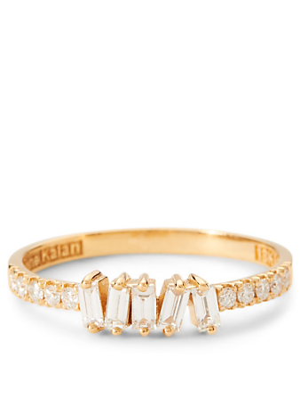 SUZANNE KALAN Fireworks 18K Gold Ring With Diamonds Womens Gold