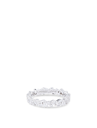 SUZANNE KALAN Fireworks 18K White Gold Bliss Eternity Ring With Diamonds Women's Silver