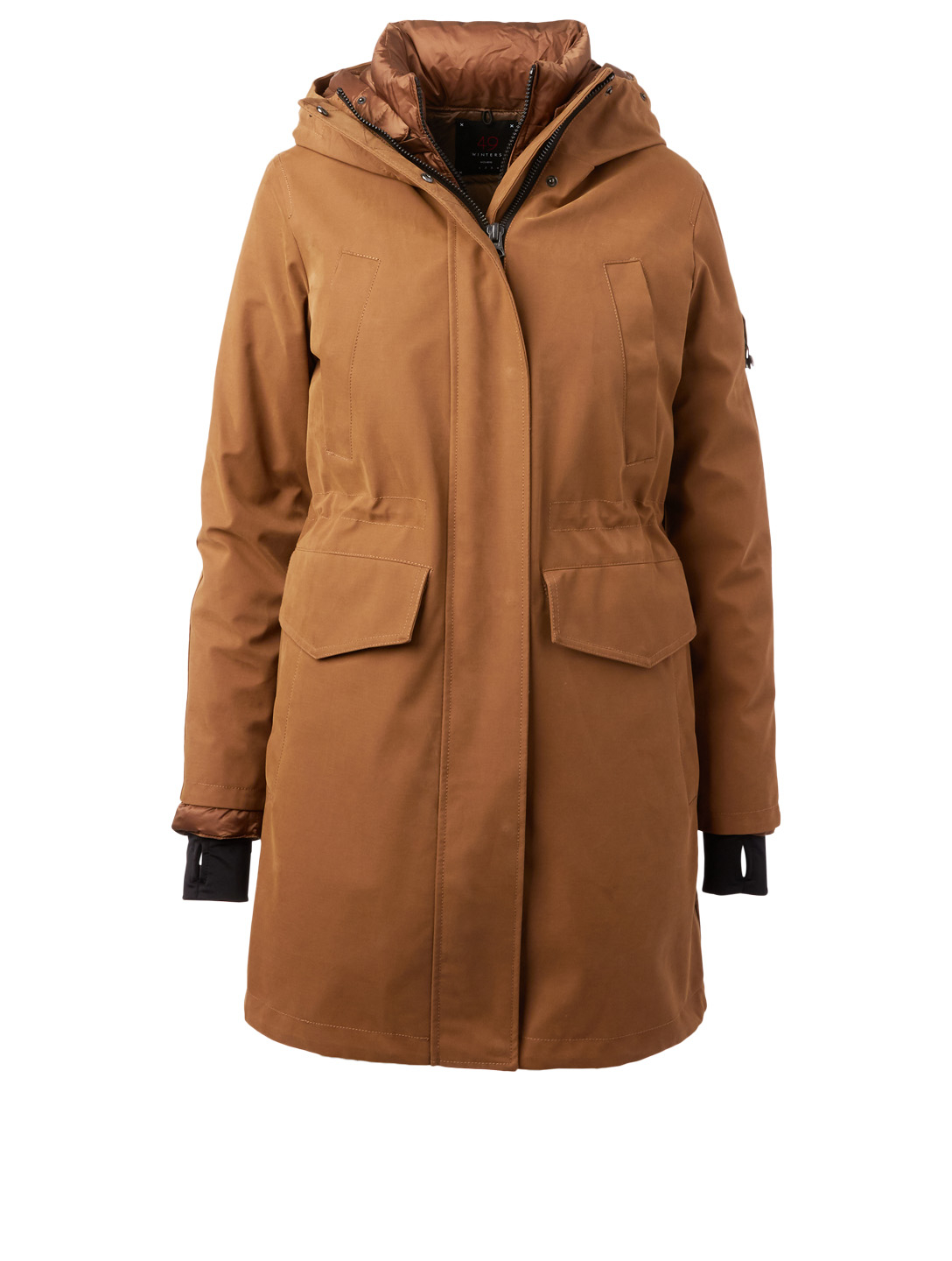 49 WINTERS Fulham Dual-Layer Down Long Parka Womens Neutral