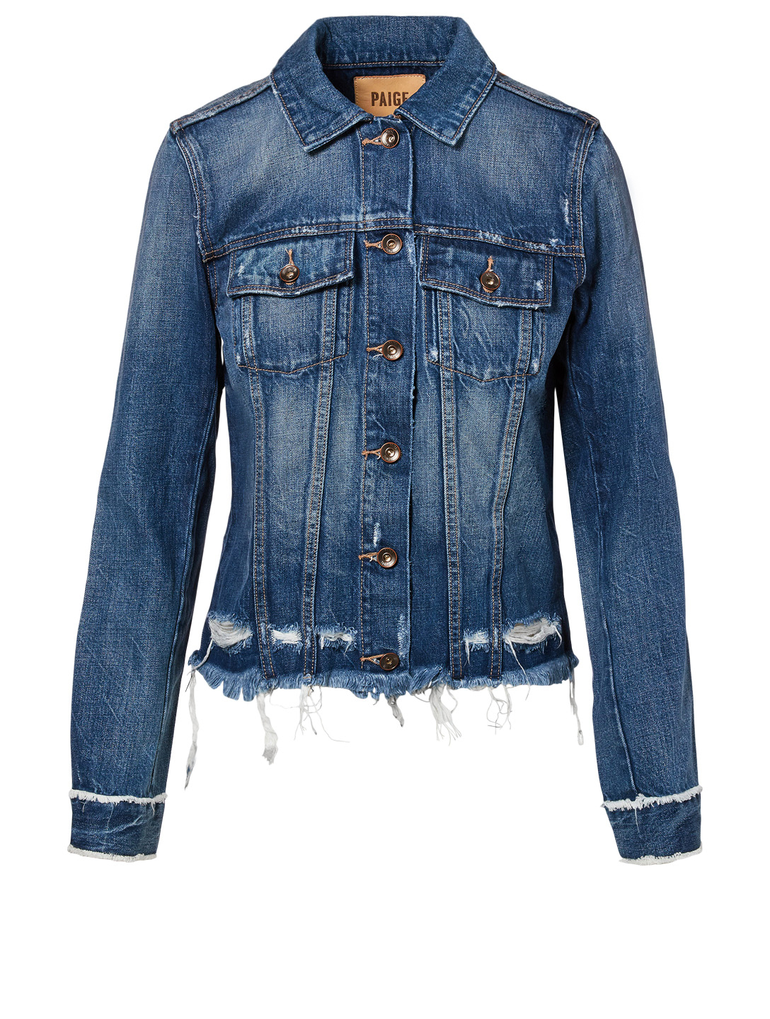 97ab3aca3bc2 PAIGE Rowan Jean Jacket With Fray Hem | Holt Renfrew