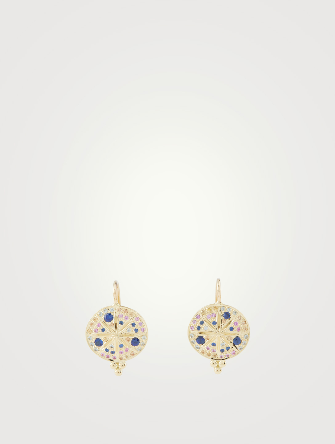 TEMPLE ST. CLAIR 18K Gold Sorcerer Earrings With Multicolour Stones Women's Gold