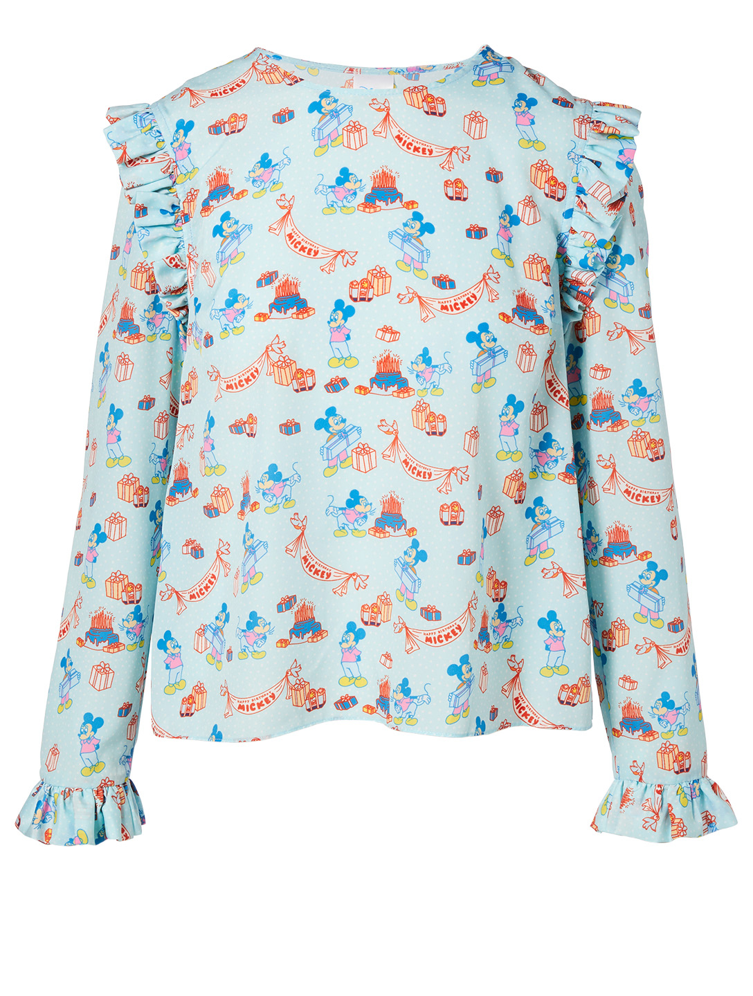 OPENING CEREMONY Disney x Opening Ceremony Printed Ruffled Blouse Women's Multi
