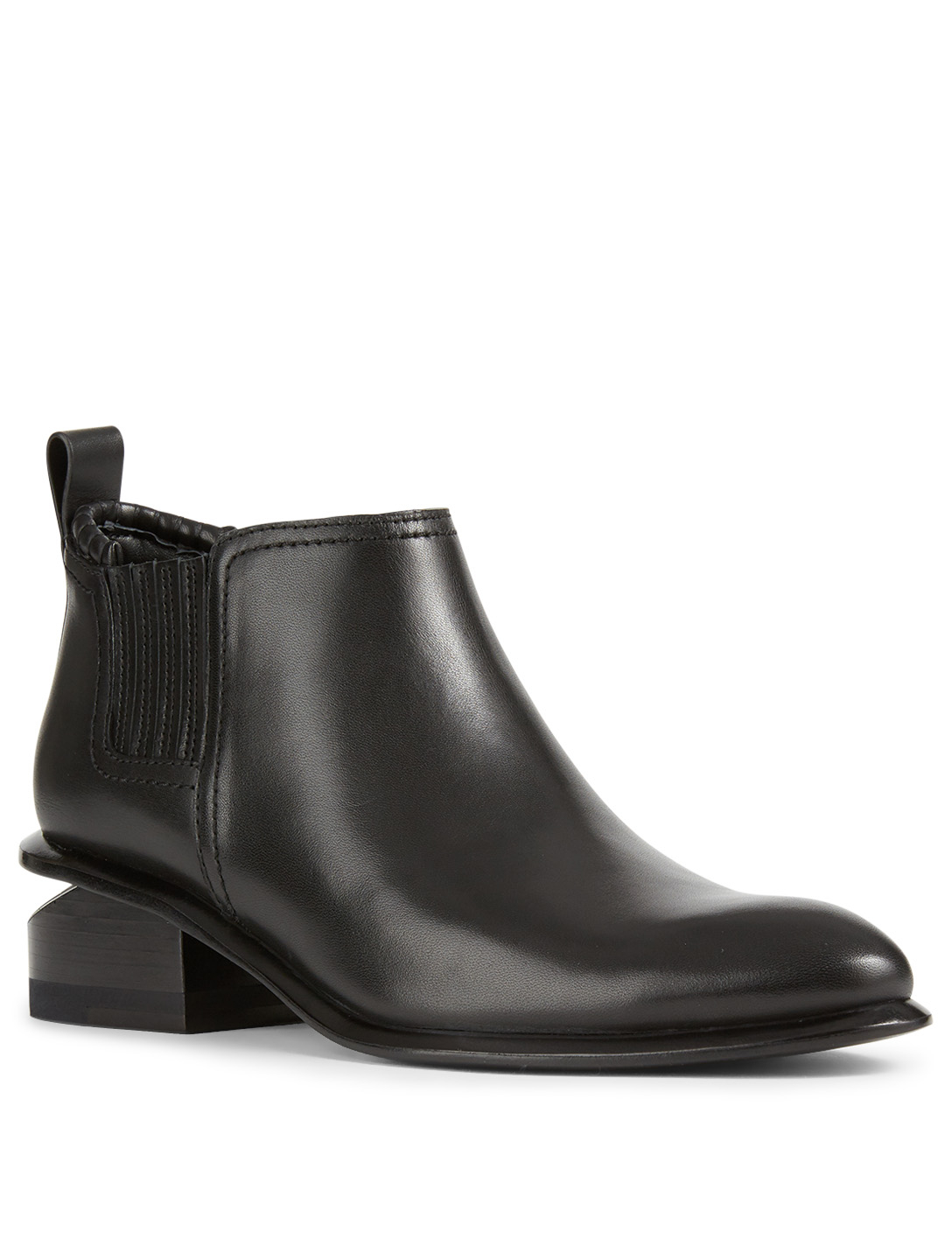 ALEXANDER WANG Kori Leather Ankle Boots Women's Black