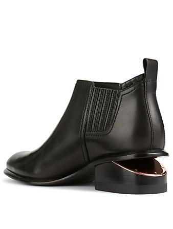 ALEXANDER WANG Kori Leather Ankle Boots With Rose Gold Heel Women's Black