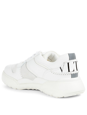 VALENTINO GARAVANI VLTN V-Slam Leather Sneakers Men's White