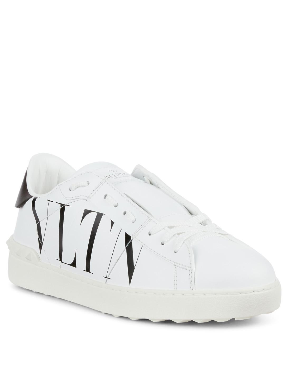 8fea859dafee VALENTINO GARAVANI VLTN Open Leather Sneakers