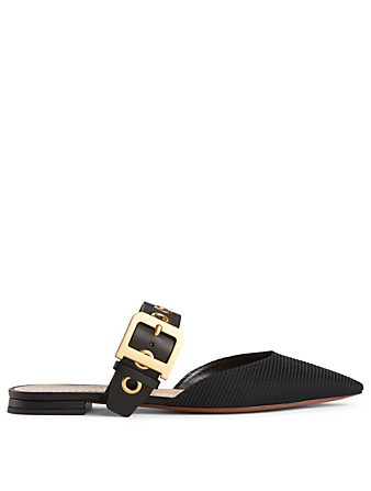DIOR D-Dior Technical Fabric Flat Mules Women's Black