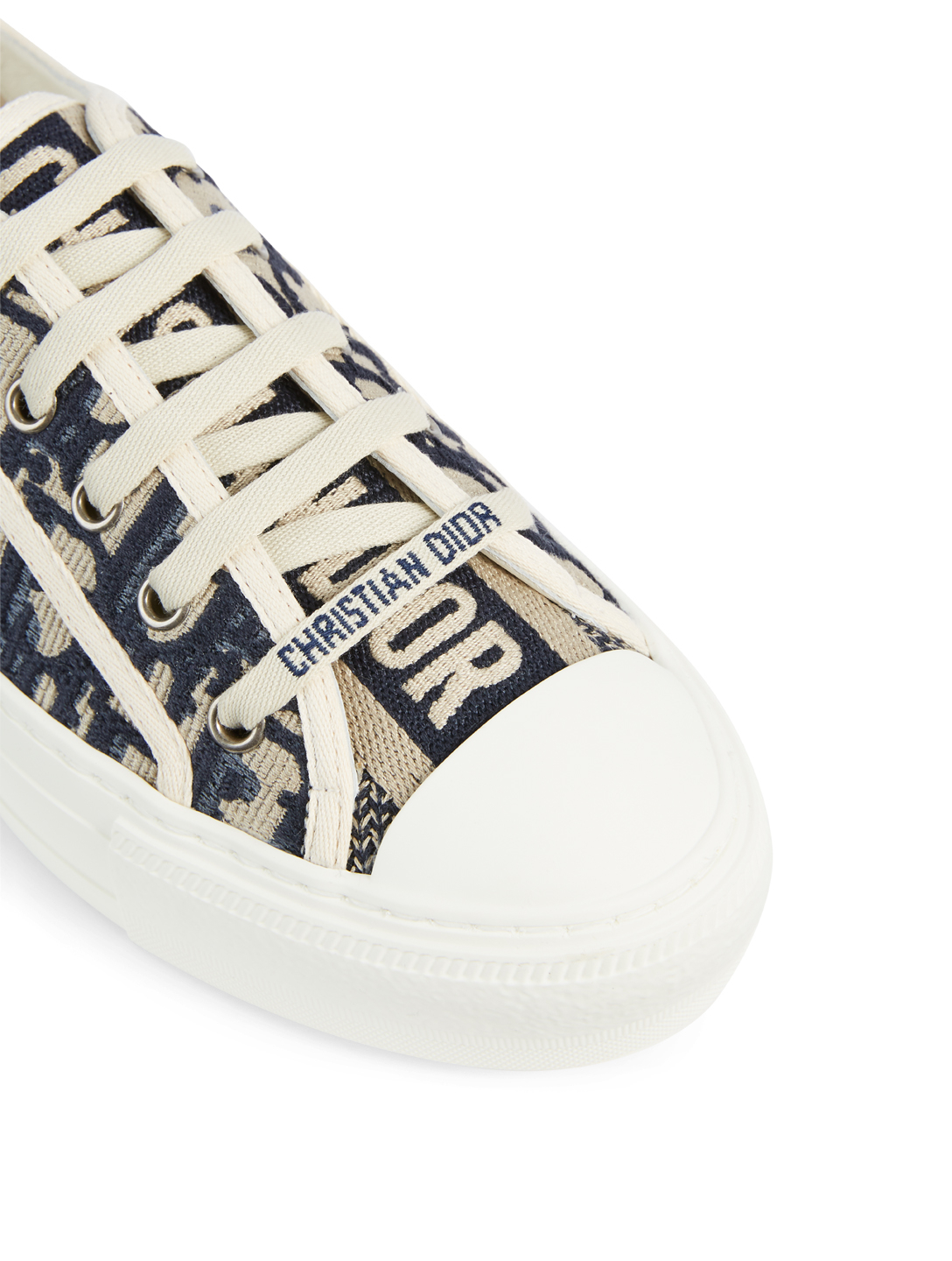 DIOR Walk'n'Dior Dior Oblique Embroidered Cotton Sneaker Women's Blue