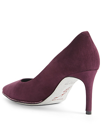 RENE CAOVILLA Grace Suede Strass Pumps Women's Purple