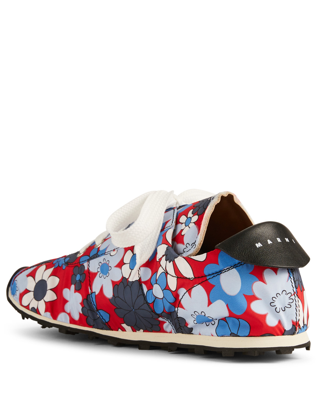 MARNI Tech Jersey Sneakers In Flower Print Men's Red