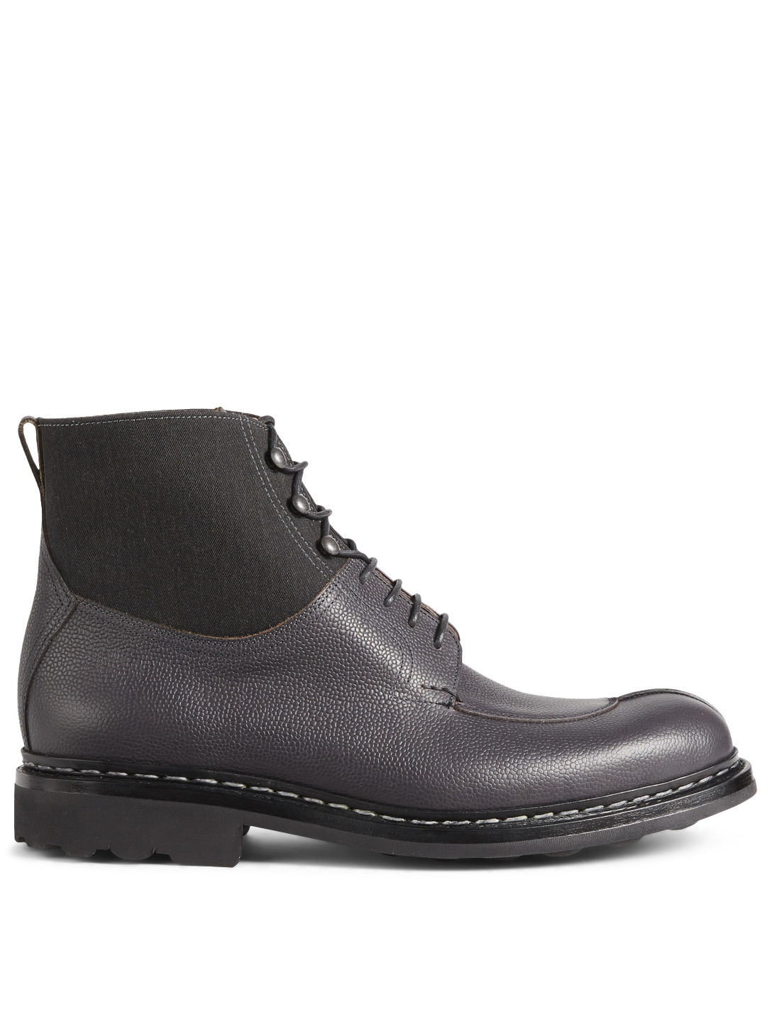 HESCHUNG Ginkgo Leather Lace-Up Boots Men's Black