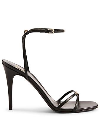 6c1def30e11a VALENTINO GARAVANI. Nude Leather Heeled Sandals
