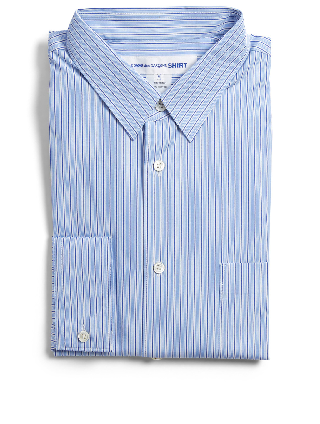 COMME DES GARÇONS SHIRT Forever Wide Shirt In Stripe Men's Blue