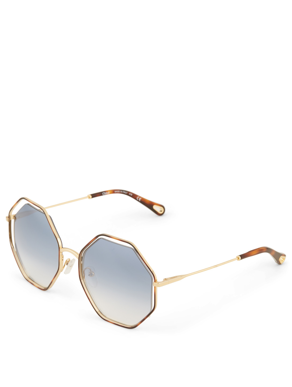 6393c7f933c ... CHLOÉ Poppy Geometric Sunglasses Women s Blue