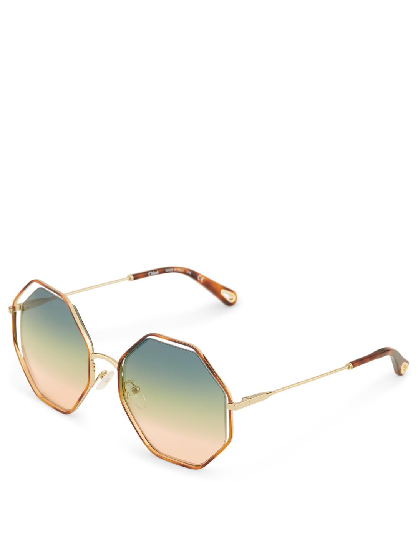 1295af814c5 ... CHLOÉ Poppy Geometric Sunglasses Women s Multi
