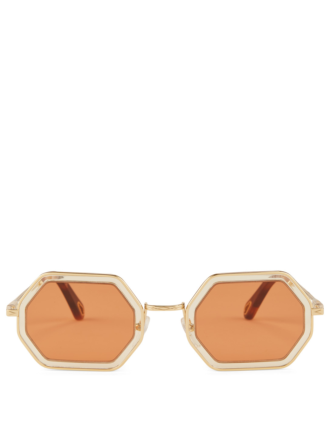 60f8ce788 CHLOÉ Tally Small Geometric Sunglasses Women's Brown ...