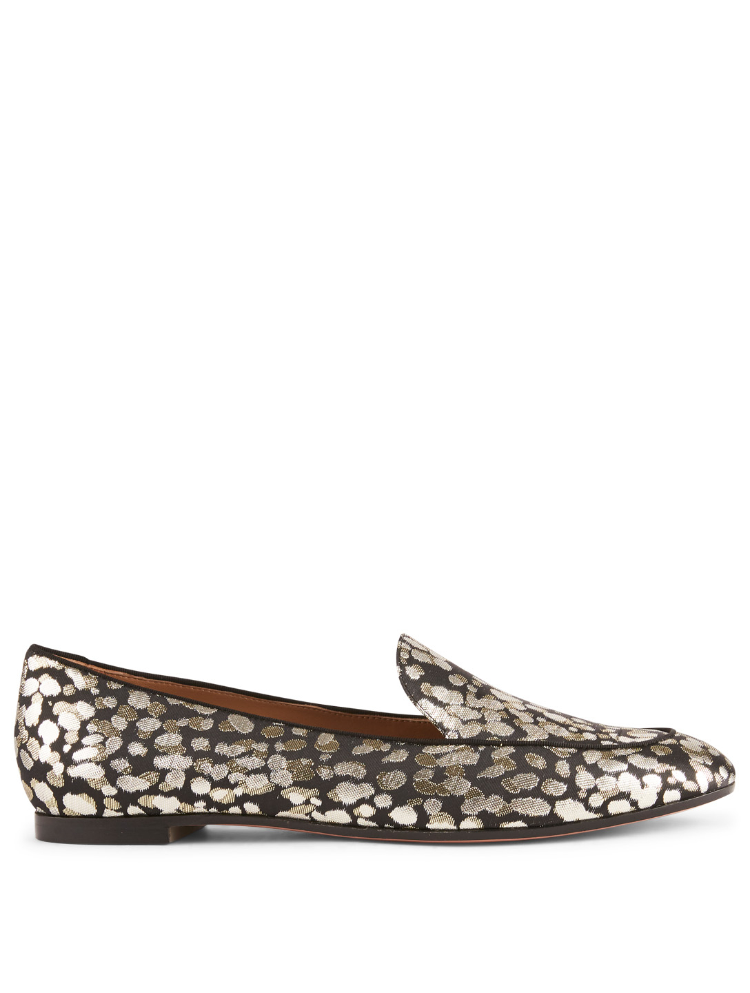 AQUAZZURA Purist Moccasins In Cheetah Print Womens Black