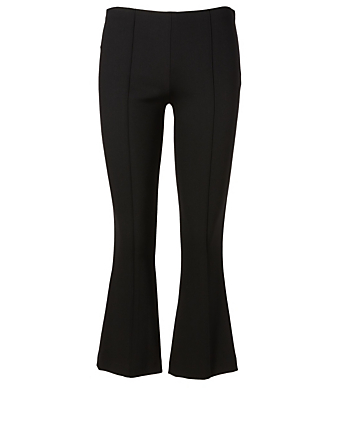 THE ROW Beca Stretch Wool Crop Flared Pants Womens Black