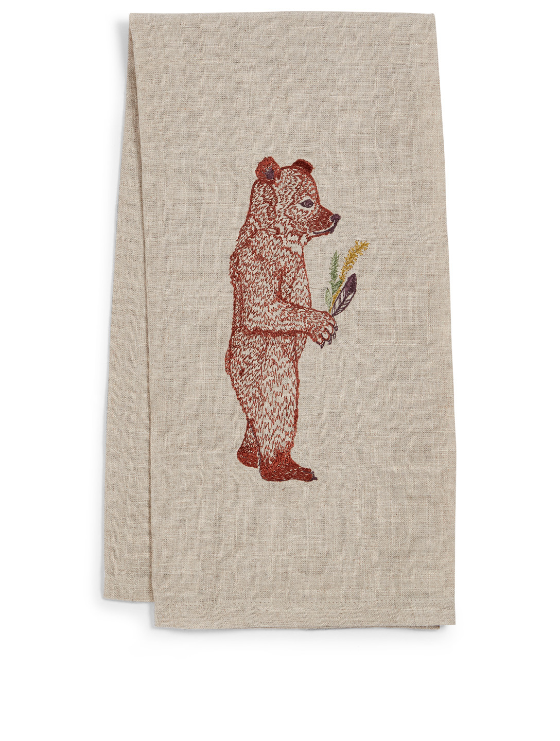 CORAL & TUSK Homecoming Bear Linen Tea Towel H Project