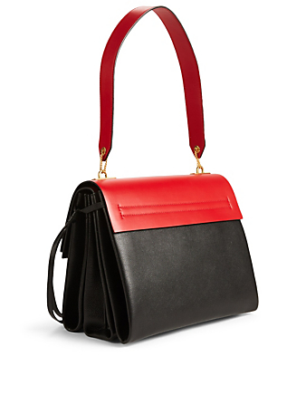 VALENTINO GARAVANI Medium Vring Leather Bag Designers Red