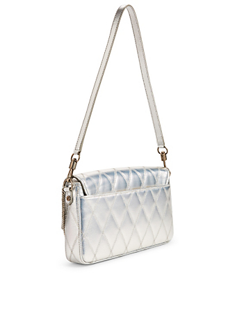 GIVENCHY Small Metallic Canvas Charm Bag Women's Silver