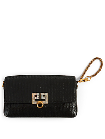 GIVENCHY Small Snake-Effect Leather Bag Women's Black