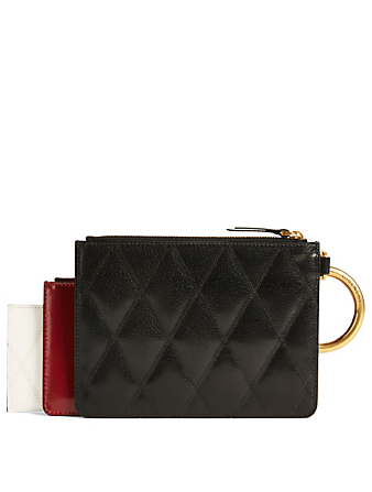 GIVENCHY GV3 Leather Multipouch Women's Black