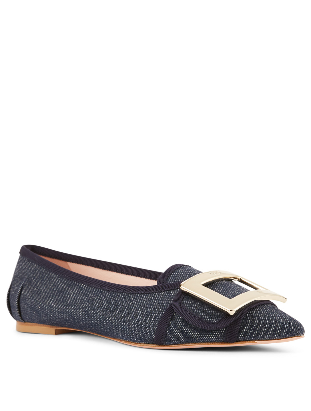 ROGER VIVIER Gommettine Denim Ballet Flats Womens Blue