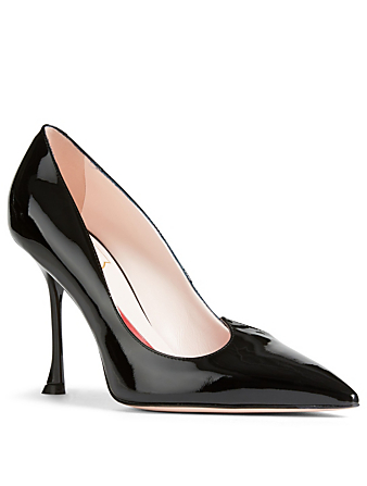 ROGER VIVIER I Love Vivier Patent Leather Pumps Womens Black