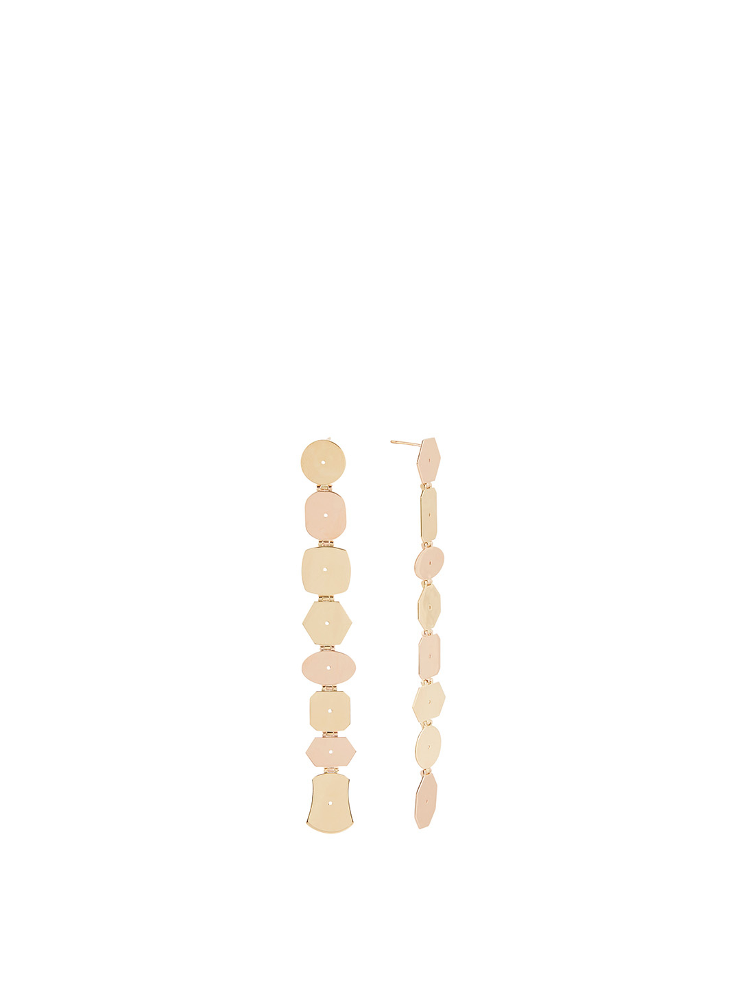 LITO 14K Rose And Yellow Gold Earrings Women's Metallic